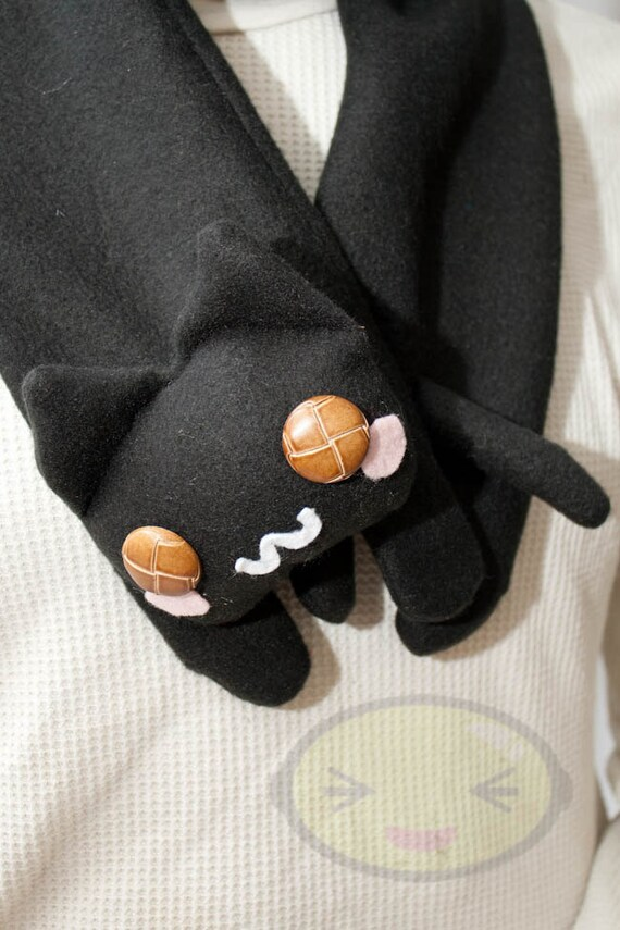 Black Long Cat Scarf