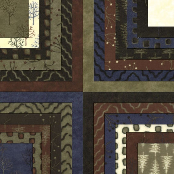 "Moda SHADED OAKS FLANNEL By Holly Taylor Layer Cake, (42) 10"" Quilt Fabric Squares"
