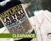 Summer Wash Liquid Castile Soap Rejuvenating Scented Soap Castille Soap Liquid Soap Gel Soap Gentle Summer Wash