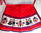 Half Apron Pennsylvania Dutch Couple Folk Art