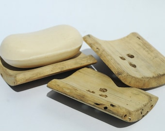 Reclaimed Wood Bamboo Soap Tray Kitchen or Bath Soap by Seagypsys