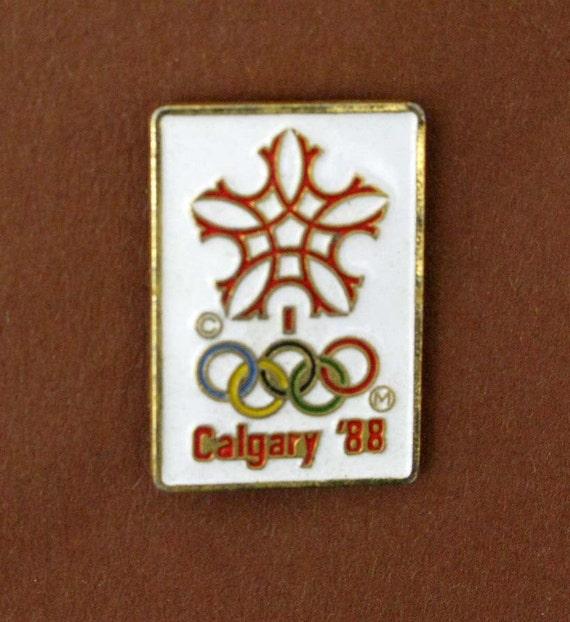 calgary olympic games pin badge
