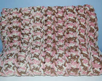 Neopolitan Hairpin Lace Blanket