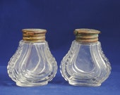Pair of Vintage Houbigant perfume bottles