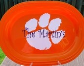 College Tailgating Preppy Style - Personalized Tray