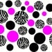 Zebra Print Dots Wall Decal