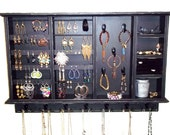 Large Jewelry Organizer, , Jewelry Storage and Organization , Earring Holder. Ring Holder, Jewelry Display Furniture Shabby n chic