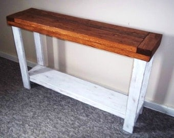 rustic side table sofa table side table foyer table entryway table - Kitchen Side Tables