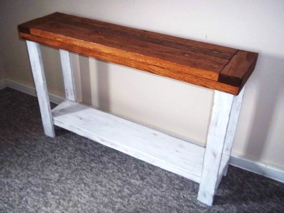 Rustic Side Table Sofa Table Side Table Foyer Table