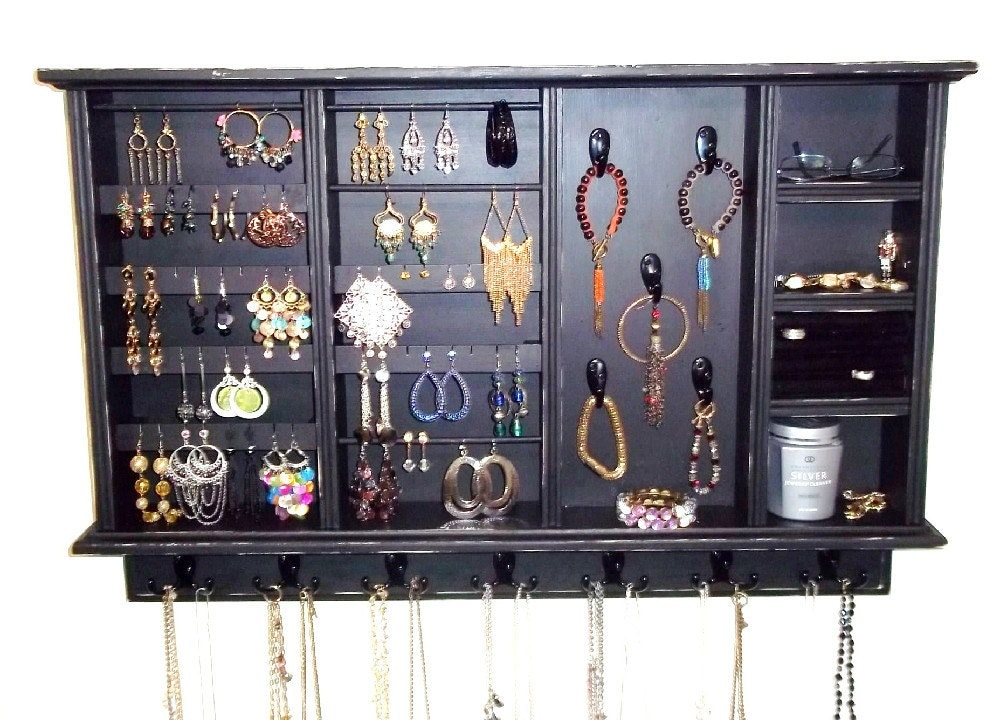 Jewelry organizer organizer jewelry storage by - Comment ranger ses colliers ...