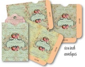 Digital Collage Sheet Download - Shabby Chic Envelopes -  524  - Digital Paper - Instant Download Printables