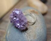 Purple Haze Amethyst Adjustable Ring