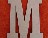 wood letter M unpainted, unfinished wood initials ready for your personal touch