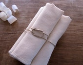 Organic Facial Cloth Wipe Cotton Birdseye Double Layer Eco Friendly -- Set of 4, Organic Cloth