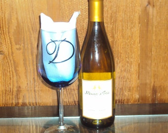 Custom Initial Wine Glass