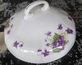 Bone China LID Adderley Violet Round Butter - Muffin  Dish Lid