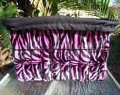 Custom Cruiser Covers - a Reversible Hot Pink & Black Zebra Bicycle Basket Liner
