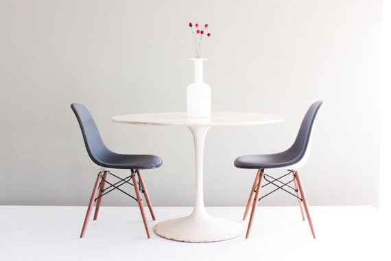 Eames Pair of Smoke Blue Girard Hopsack DSW for Herman Miller Side Chairs