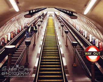 London Underground Photograph, Travel Photography, London 2012, London Photo, Tube Station Photo, Abbey Road Photo Fine Art Photography