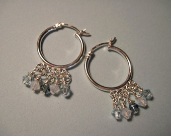 Soft Blues Sterling Earrings
