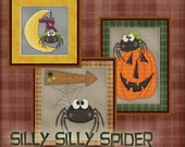 Counted Cross Stitch Pattern Silly Spiders - Three Halloween Whimsical Designs - Instant Download PdF - StitchX Best Seller