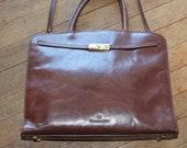 Vtg Etienne Aigner Large Leather Shoulder Bag-Gently Used