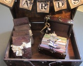 Wedding Guest Book Set Includes Card Box Wish Box Ring Box and 4 Bridesmaid Gifts