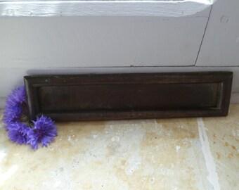 French Antique Bronze Letter Post Box Flap Victorian Era Door Hardware Fitting