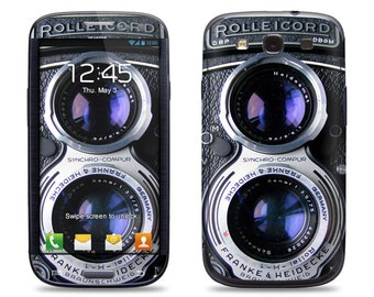 Vintage Camera - Samsung Galaxy S3/S4/S5 Phone Skin Decal Cover and Samsung Galaxy Note 2/3 Phone Skin Decal Cover