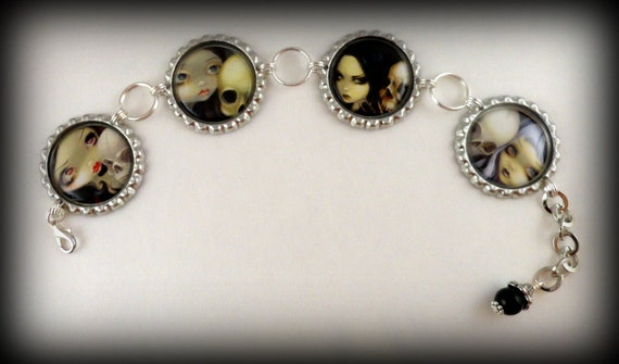 "Jasmine Becket-Griffith "" Just the Two of Us ""  charm bracelet"