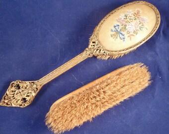 Set of two antique vintage brushs