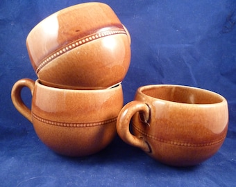 Vintage sweden swidish three hoganas cup stoneware ceramic