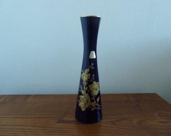 items similar to large kaiser echt scharffeuer kobalt vase deep cobalt blue gold flowers. Black Bedroom Furniture Sets. Home Design Ideas