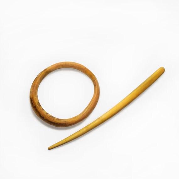 Wooden Shawl Pin Hair Stick Hair slider Barrette Wood Carving MariyaArts