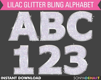 60% OFF SALE Glitter Alphabet, Alphabet Clipart, Purple Glitter, Digital Alphabet, Purple Glitter Fonts, Alphabet Letters