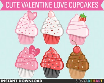 70% OFF SALE Cupcake Clipart, Valentine Clipart, Cupcake Clip Art, Birthday Clipart, Birthday Clip Art, Cakes Clipart, Valentine Clip Art