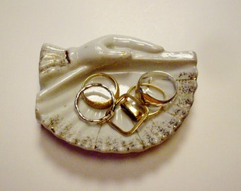Vintage Ring Holder Trinket Dish Victorian Style Made in Japan 1950s