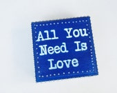 "Ring Bearer Box, Royal Blue, ""All You Need is Love"" by Green Orchid Design Studio"