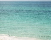 Ombre Ocean - Beach Photography - Deep Blue Sea Fades to Pale Aqua Blue, Turquoise Waves - Coastal, Blues, Marine, Island - 8x10 Art Photo