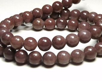 8mm Purple Aventurine Natural Gemstone Round Beads - 16 Inch Strand - BC24