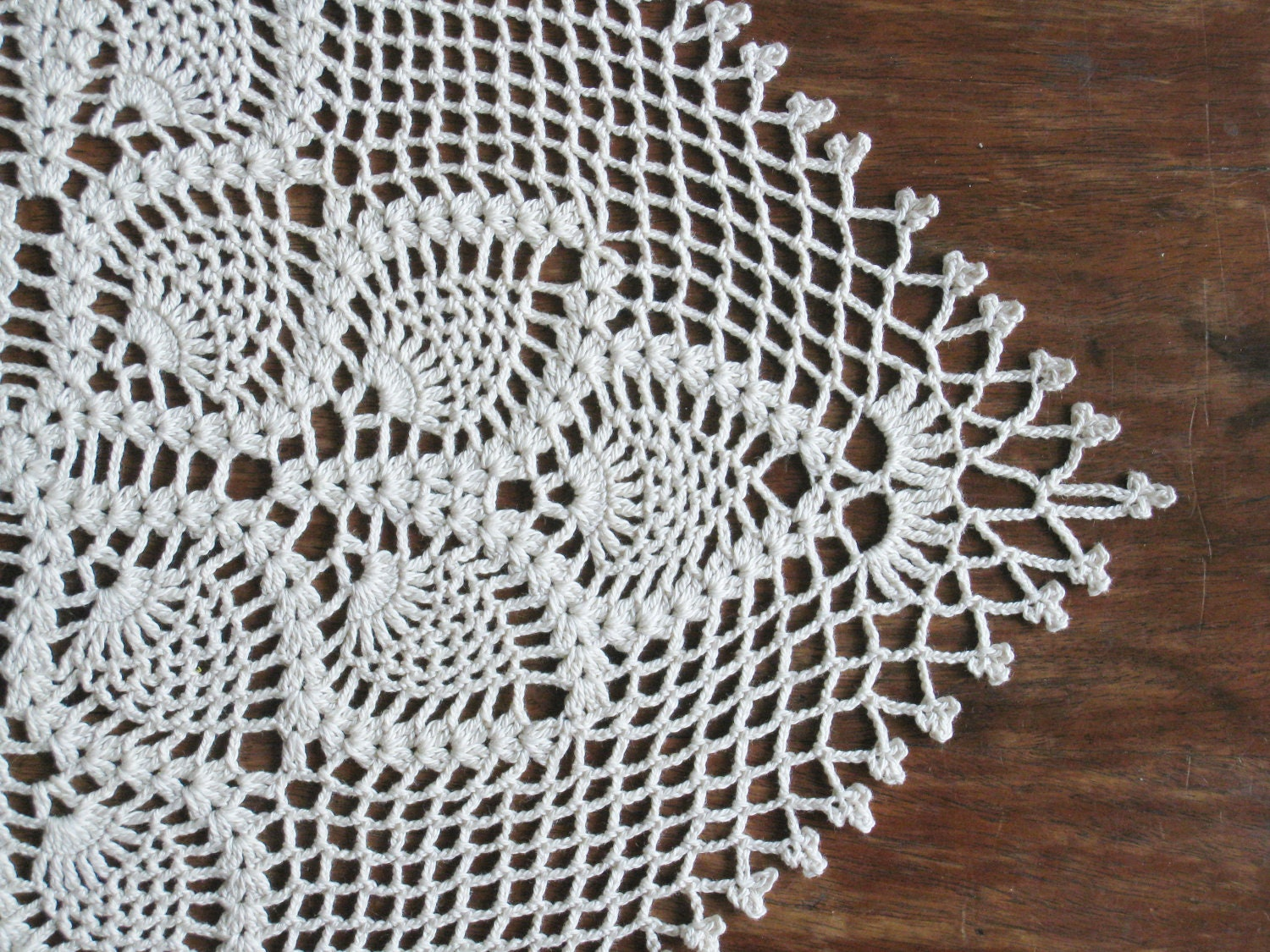Crochet Patterns Lace Table Runners : Crochet Square Table Runner Lace Table Cloth Natural Shabby
