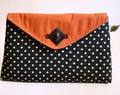 Tangerine n' Polka envelope clutch purse (limited edition) - Catalina range