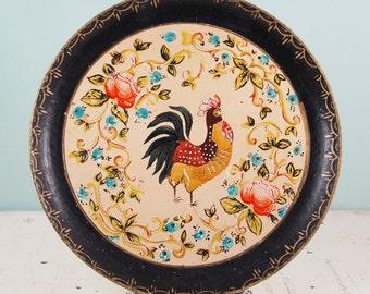 Vintage Handpainted Rooster Plate Made in Japan