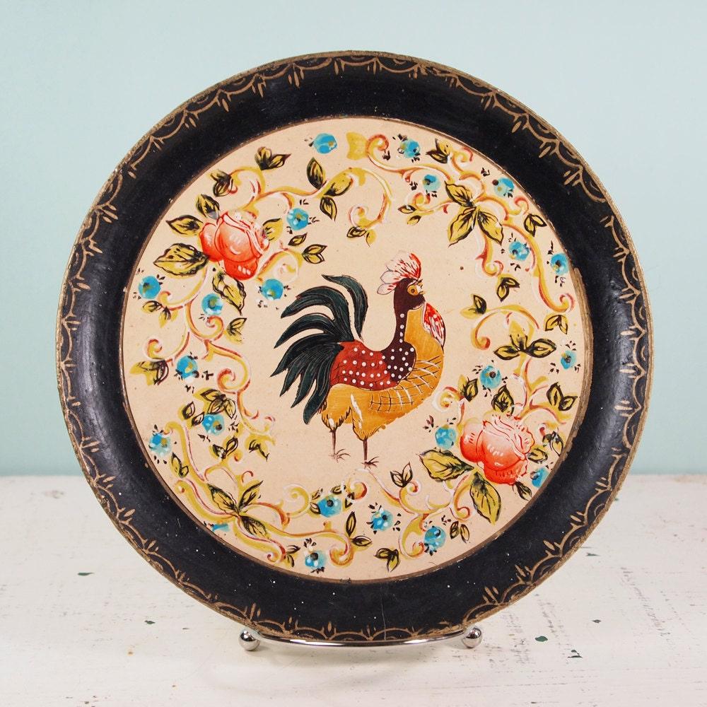 Vintage Rooster Plates 68