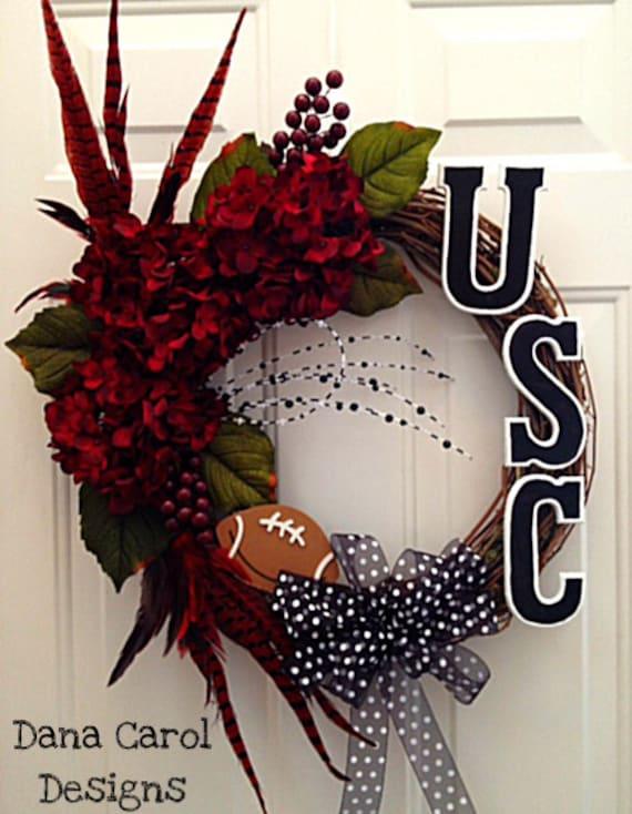 SALE - South Carolina Gamecocks Football Wreath or Wall Decor