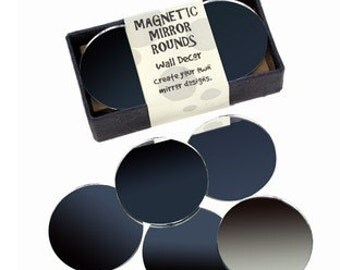 2.5 Inch Magnetic Round Craft Mirrors - Set of 10