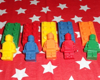 Lego Bricks and Men Shaped Chocolate Candy Party Pack