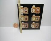 1:12 Scale Dollhouse Chrysnbon Prop Furniture Kit Boxes - 6 Unassembled Boxes Vintage- Set 1