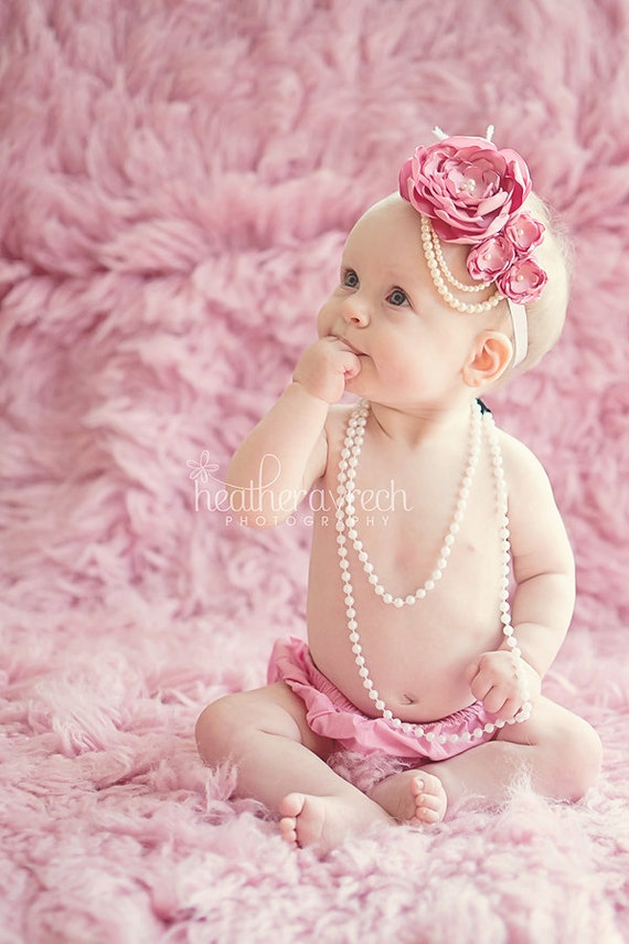 items similar to pink 1920s style headband baby items similar to pink 1920s style headband baby