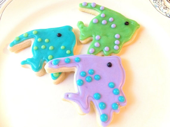 Iced Tropical Fish Sugar Cookie Decorated Cookie Island Tropical Theme